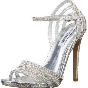 Steve Madden Caged Dress Sandal - Silver